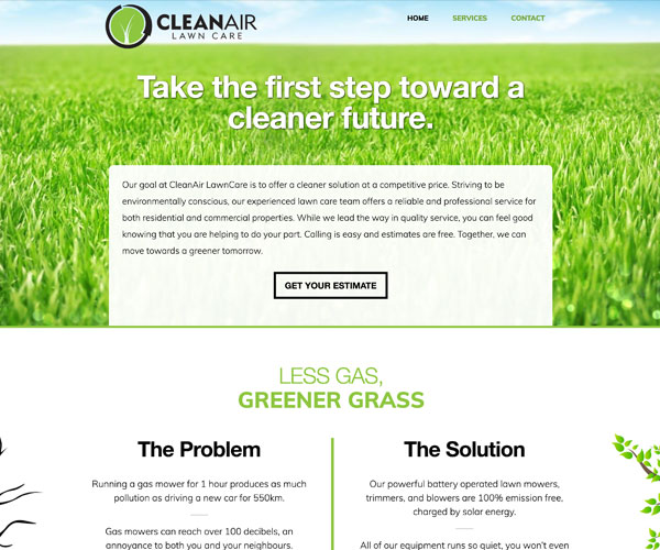 CleanAir LawnCare Website