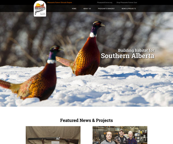 Pheasants Forever Chinook Website
